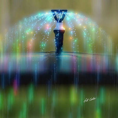 Photograph - Magic Sprinkler Streaking by Bill Kesler