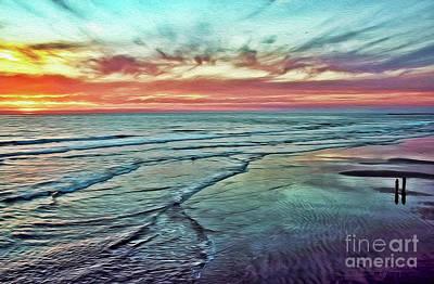 Photograph - Magic Sunset Color Spectrum by Gabriele Pomykaj