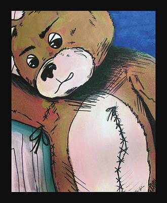 Painting - Magic Teddy Bear Frank  by Rene Capone