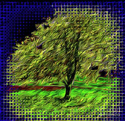 Buy Tshirts Digital Art - Magic Tree  by Gaby Veganmaniac