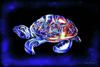 Digital Art - Magic Turtle by Pennie  McCracken