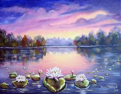 Painting - Magic Water Lily by Vesna Martinjak