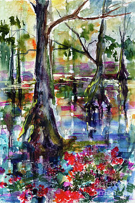 Painting - Magic Wetland Morning Watercolor by Ginette Callaway