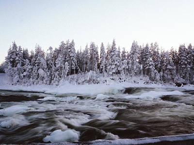 Photograph - Magic Winter Waterfall Storforsen  by Tamara Sushko