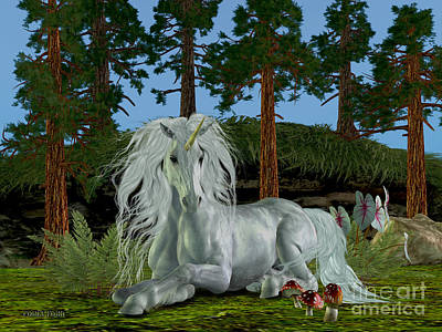 Magic Woodland Art Print by Corey Ford