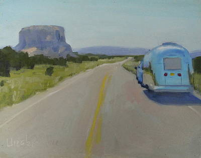 Airstream Trailer Painting - Magical Acoma by Elizabeth Jose