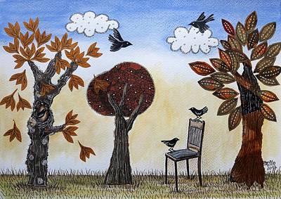 Mixed Media - Magical Autumn by Graciela Bello