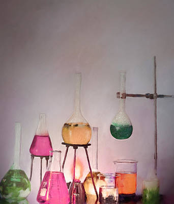 Painting - Magical Beakers by Enzie Shahmiri