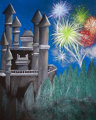 Fireworks Painting - Magical Beginnings by Brianne Elliott