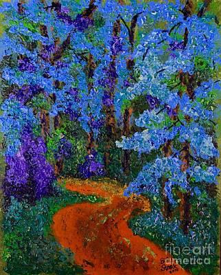 Magical Blue Forest Art Print
