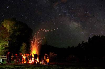 Photograph - Magical Bonfire by Matt Helm