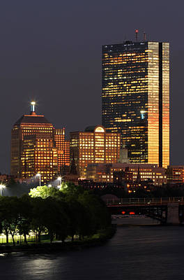 Boston Skyline Photograph - Magical Boston by Juergen Roth