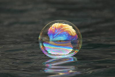 Photograph - Magical Bouncing Bubble 2 by Cathie Douglas