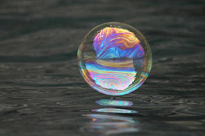 Photograph - Magical Bouncing Bubble 3 by Cathie Douglas