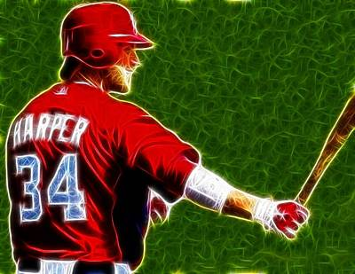 Bryce Harper Digital Art - Magical Bryce Harper by Paul Van Scott