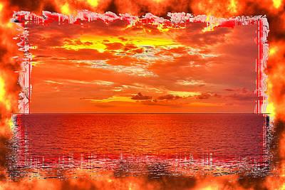 Photograph - Magical Caribbean Sunset 3 by John M Bailey