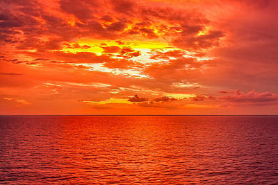 Photograph - Magical Caribbean Sunset by John M Bailey