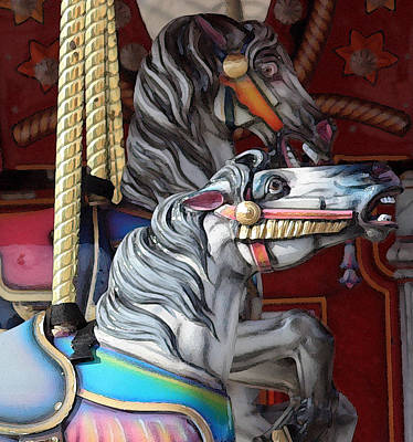 Photograph - Magical Carousel by Mary Haber