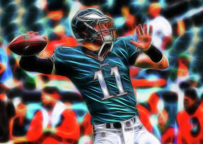 Painting - Magical Carson Wentz by Paul Van Scott