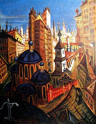 Painting - Magical City by Ari Roussimoff