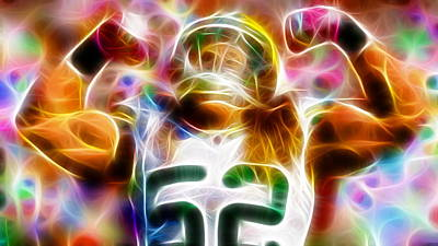 Football Royalty-Free and Rights-Managed Images - Magical Clay Matthews by Paul Van Scott