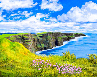 Photograph - Magical Cliffs Of Moher - Irish Landscape by Mark E Tisdale