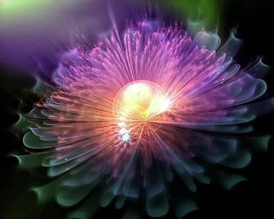 Digital Art - Magical Flower 4 by Lilia D