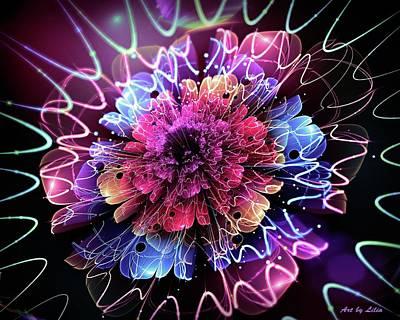 Steampunk - Magical Flower 6 by Lilia D
