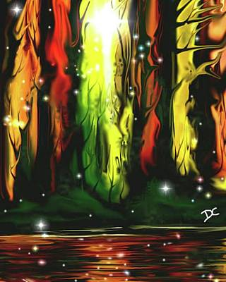 Digital Art - Magical Forest by Darren Cannell