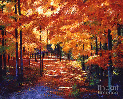 New England Fall Painting - Magical Forest by David Lloyd Glover