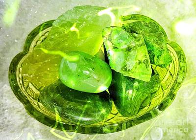 Magical Gemstones Art Print