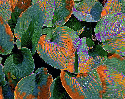 Digital Art - Magical Hostas 9 by Lynda Lehmann
