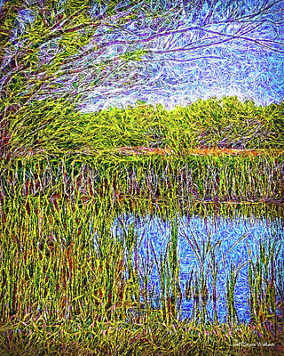 Digital Art - Magical Lake Moment by Joel Bruce Wallach
