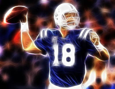 Indianapolis Drawing - Magical Manning by Paul Van Scott
