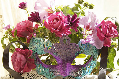 Photograph - Magical Masquerade Mask Bouquet by JoDee Luna
