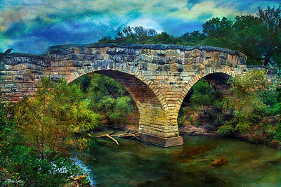 Magical Middle Of Nowhere Bridge Art Print