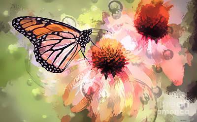 Digital Art - Magical Monarch by Tina LeCour