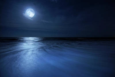Photograph - Magical Moonrise by Justin Kelefas