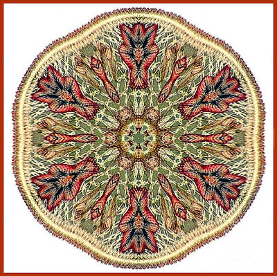 Magical Mosaic - Shamanic Power Circle 3 Art Print by Sofia Metal Queen