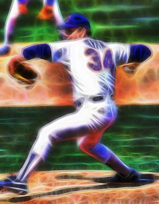 Nolan Ryan Painting - Magical Nolan Ryan by Paul Van Scott
