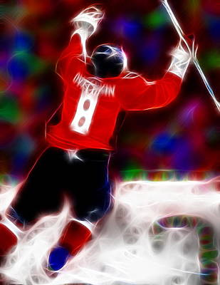 Alex Ovechkin Painting - Magical Ovechkin by Paul Van Scott
