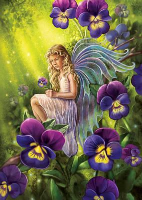 Painting - Magical Pansies by Anne Wertheim