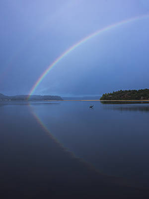 Photograph - Magical Rainbow Reflection by Loree Johnson