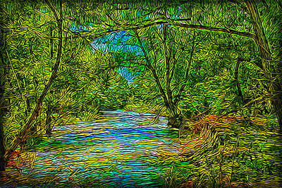 Digital Art - River Journey - Boulder County Colorado by Joel Bruce Wallach