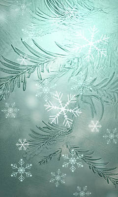 Susann Serfezi Wall Art - Digital Art - Magical Snow by AugenWerk Susann Serfezi