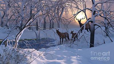 Magical Snow Art Print