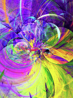 Royalty-Free and Rights-Managed Images - Magical Spring Abstract by Georgiana Romanovna