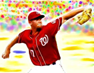 Magical Stephen Strasburg Print by Paul Van Scott