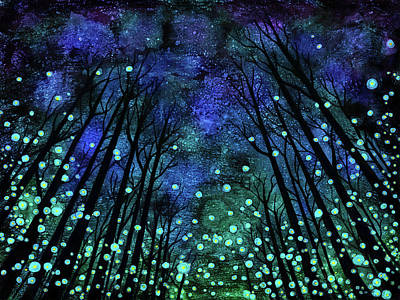 Ink Painting - Magical Summer Nights by Jennifer Allison