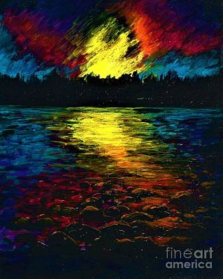 Painting - Magical Sunset  by Allison Constantino